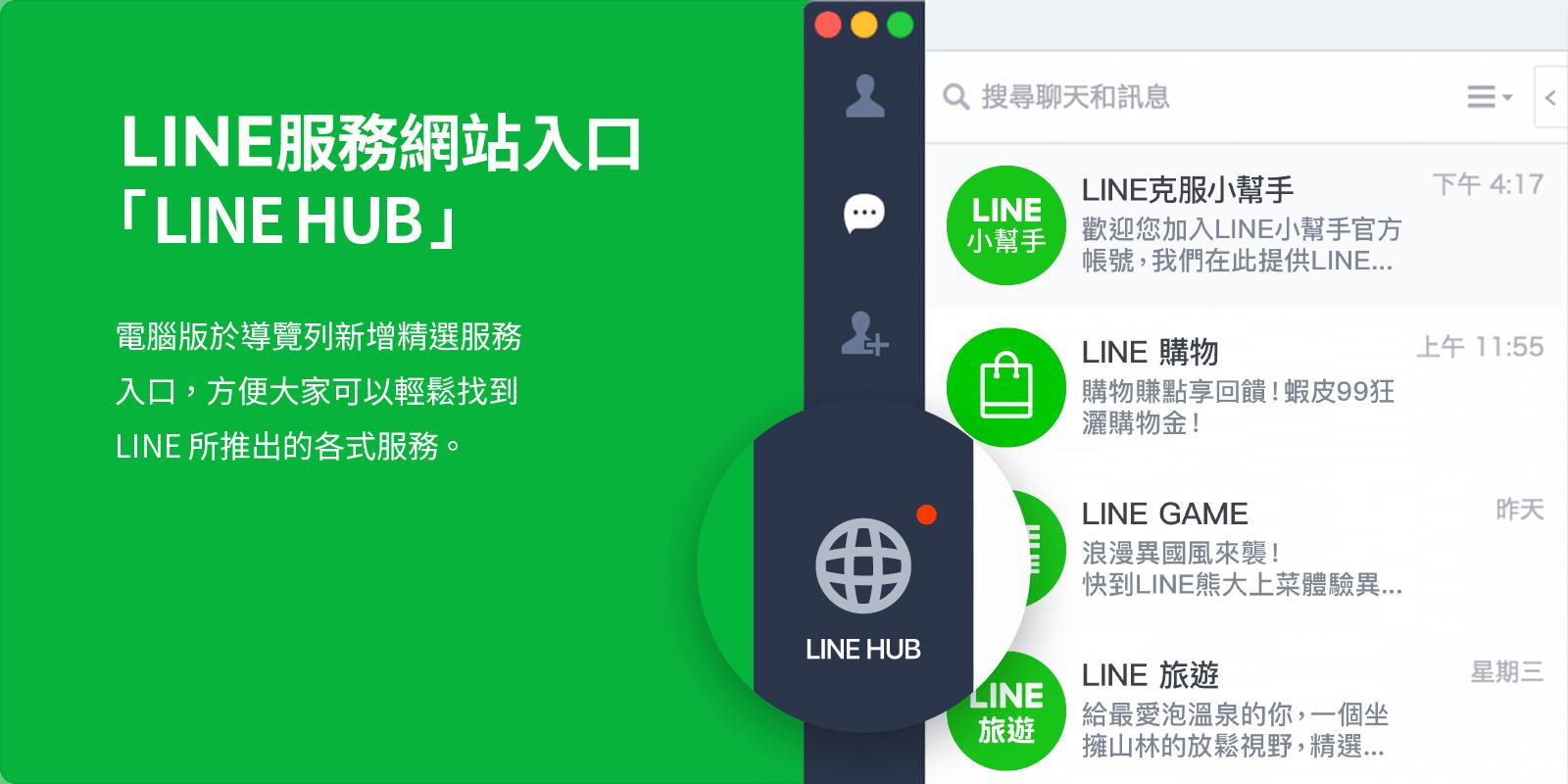 LINE HUB新型態入口網站-電腦版的LINE TODAY-用電腦追劇跟購物更EASY