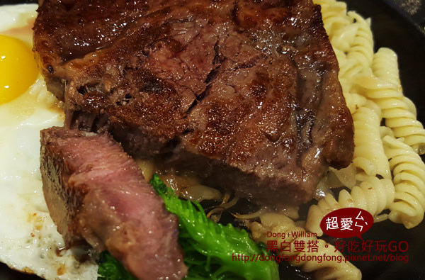 【台北.威廉.美食】厚度超過5CM牛排@厚切牛排-富國店@D&W黑白雙搭