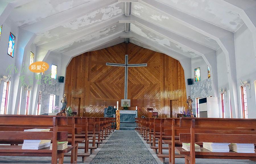 花蓮新城鄉超美船型教堂!日式鳥居的綠色挪亞方舟-新城天主堂!
